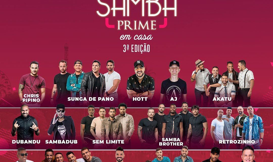 Live Samba Prime em Casa realiza a 3° edição com artistas de BH