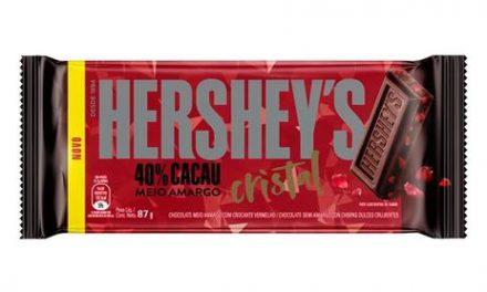 Hershey's amplia portfólio com nova barra versão Cristal 40% cacau