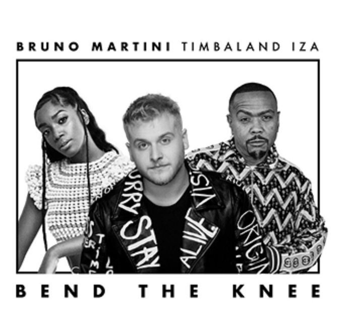 "Bruno Martini convida IZA e Timbaland para ""Bend The Knee"""