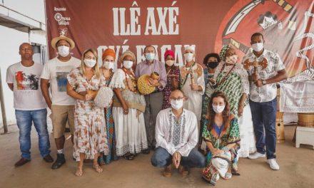 Em ação contra a intolerância religiosa, projeto de fomento da Secec doa atabaques a terreiro