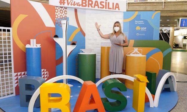 Setur-DF entrega photo point 3D e totens interativos aos turistas que chegarem ao Aeroporto de Brasília