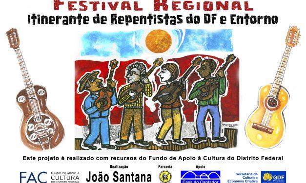 Festival Regional Itinerante de Repentistas do DF e Entorno reúne novos talentos e artistas consagrados