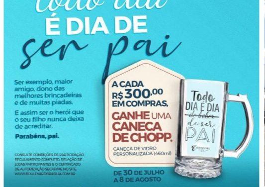 Boulevard Brasília presenteia os pais com caneca de chopp personalizada